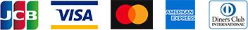JCB / VISA / master card / american express / diners club